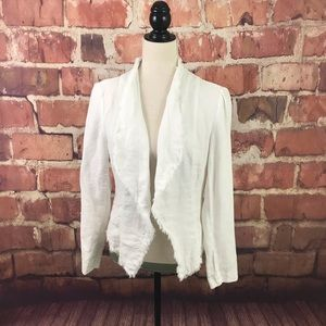 INC White Linen Jacket  SZ PS